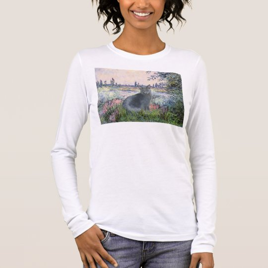By The Seine- Russian Blue cat 2 Long Sleeve T-Shirt