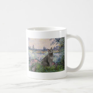By the Seine - Russian Blue cat Coffee Mug