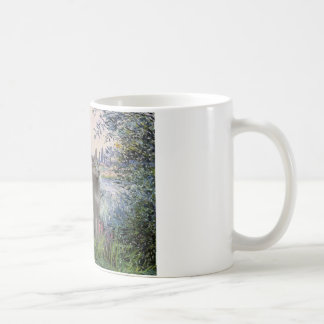 By the Seine - Russian Blue cat Coffee Mugs