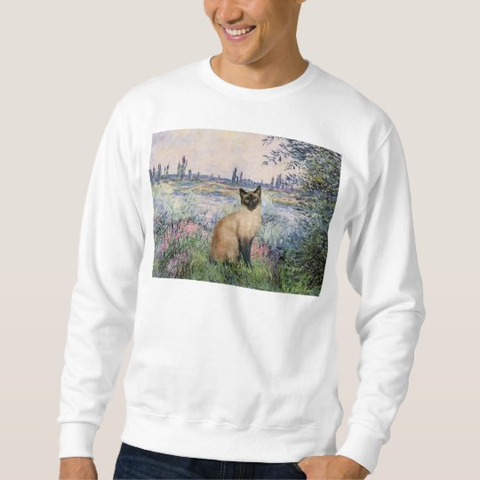 By the Seine - Seal Point Siamese cat Sweatshirt