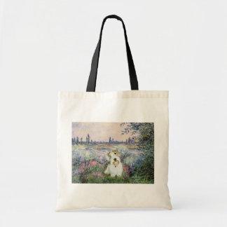 By the Seine - Sealyham Terrier Tote Bag