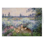 By the Seine - Two kittens Card