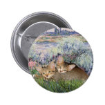 By the Seine - Two kittens Pinback Button