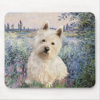 By the Seine - Westie 1 Mouse Pad