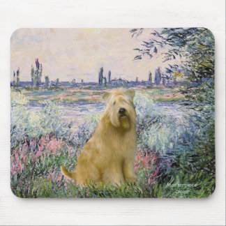 By the Seine - Wheaten Terrier 2C Mouse Pad