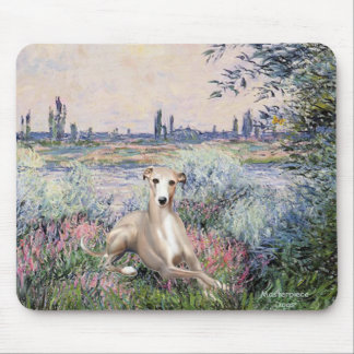 By the Seine - Whippet #2 Mouse Pad