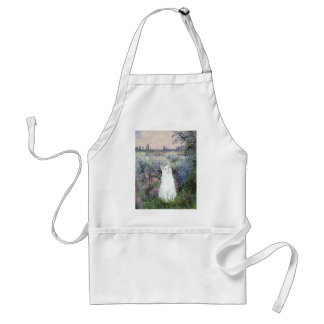 By the Seine - White cat Adult Apron