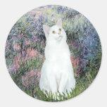 By the Seine - White cat Sticker