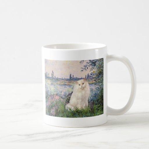By the Seine - White Persian cat Coffee Mug