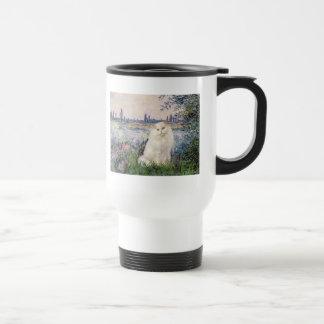 By the Seine - White Persian cat Travel Mug