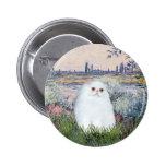 By the Seine - White Persian kitten #49 2 Inch Round Button