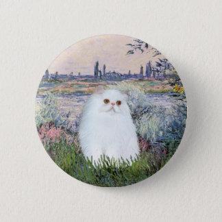 By the Seine - White Persian kitten #49 Button