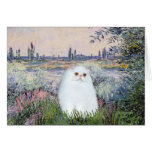By the Seine - White Persian kitten #49 Greeting Card