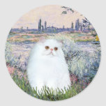 By the Seine - White Persian kitten #49 Stickers