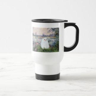 By the Seine - White Persian kitten #49 Travel Mug