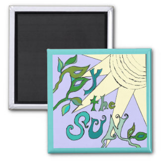 by the sun art 2 inch square magnet