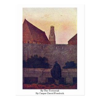 By The Townwall By Caspar David Friedrich Postcard