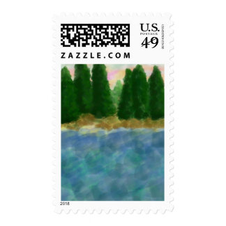 By The Water 3 Postage Stamps