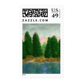 By The Water 4 Reflection Postage