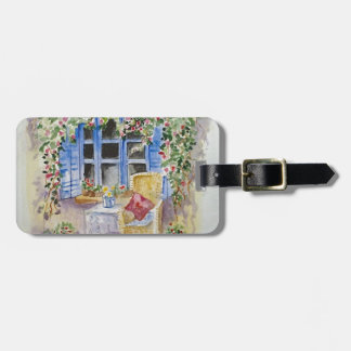 By the window luggage tag