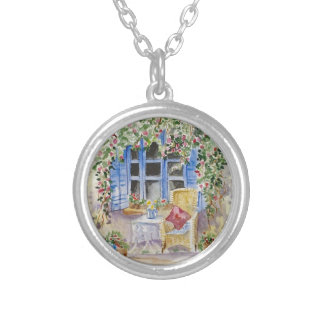 By the window round pendant necklace