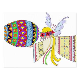 By the Wings of an Angel Ukrainian Folk Art Postcard