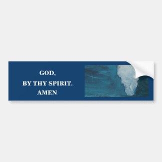 BY THY SPIRIT BUMPER STICKER