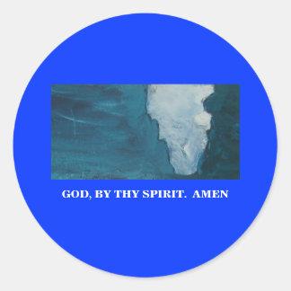 BY THY SPIRIT CLASSIC ROUND STICKER