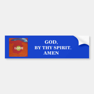 BY THY SPIRIT LOVE - 1118 BUMPER STICKERS