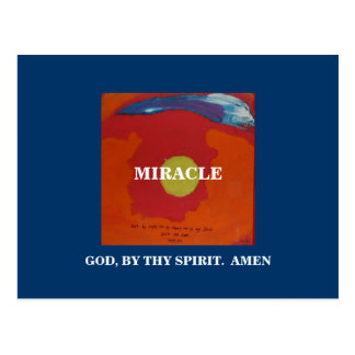 BY THY SPIRIT -  MIRACLE POSTCARD