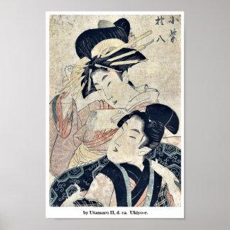 by Utamaro II, d. ca.  Ukiyo-e. Posters