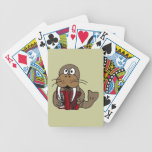 BY- Walrus Playing Accordion Playing Cards