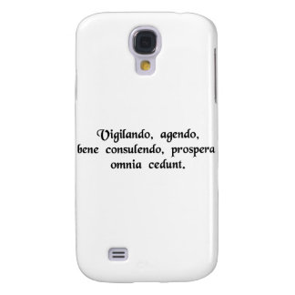 By watching, by doing, by counsulting well, these samsung galaxy s4 cover