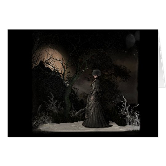 By winters moon-Greeting Card