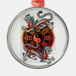 byakko 1 round metal christmas ornament