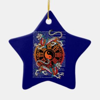byakko 2 Double-Sided star ceramic christmas ornament