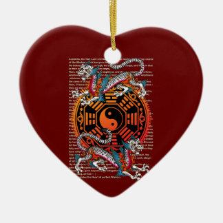 byakko 2 Double-Sided heart ceramic christmas ornament
