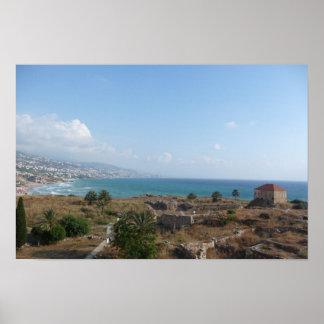 Byblos Líbano vista al mar Posters
