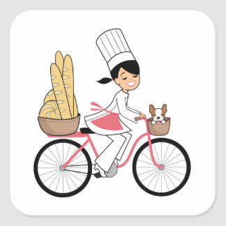 Bycicle Chef Art Sticker