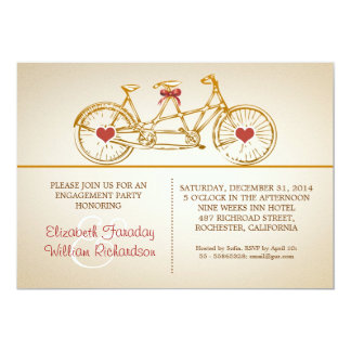 """bycicle cute engagement party invitations 5"""" x 7"""" invitation card"""