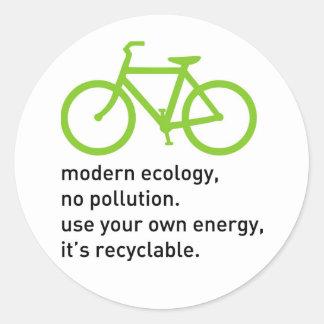 Bycicle: Ecología moderna Etiquetas Redondas