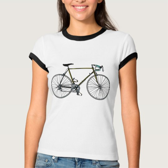 Bycicle Ladies Melange Ringer T-shirt