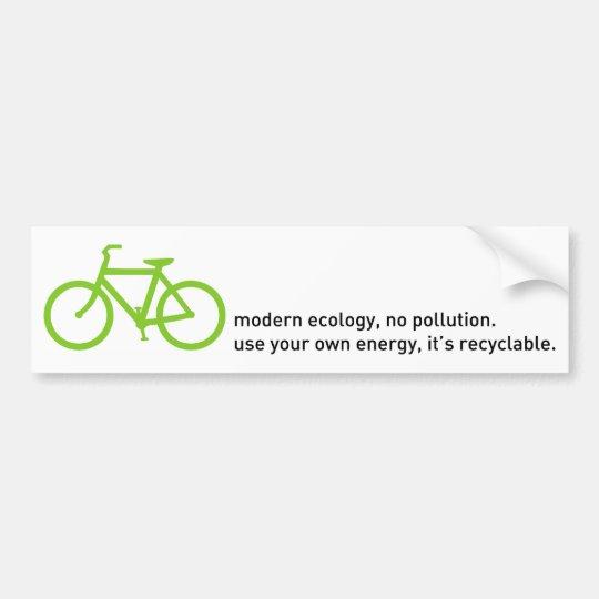 Bycicle: Modern Ecology Bumper Sticker