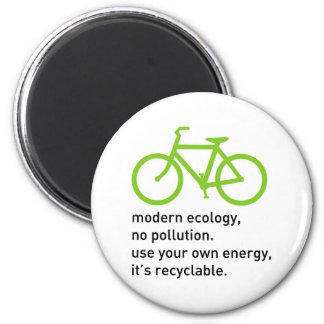 Bycicle: Modern Ecology 2 Inch Round Magnet