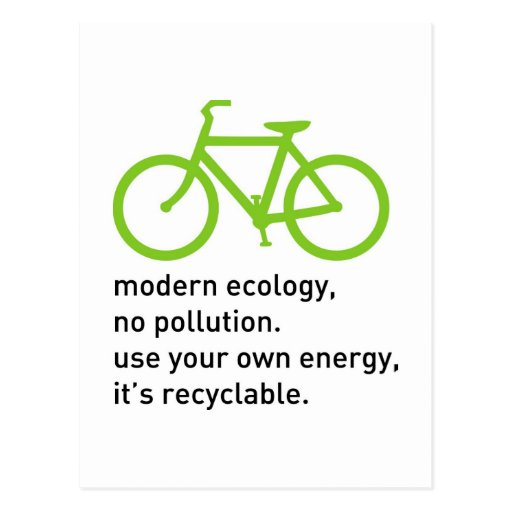 Bycicle: Modern Ecology Post Cards