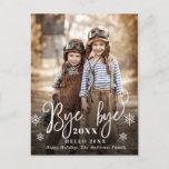 "Bye 2021 Merry Christmas Photo Greeting Holiday Postcard<br><div class=""desc"">Bye 2021 Merry Christmas Photo Greeting Holiday Postcard.</div>"