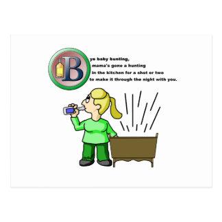 Bye Baby Bunting Postcard