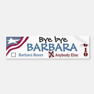 Bye bye Barbara Bumper Sticker