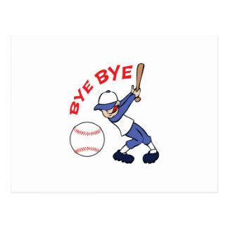 BYE BYE BASEBALL POSTCARD