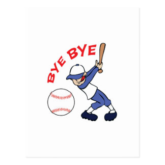 BYE BYE BASEBALL POST CARD